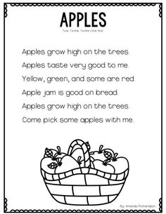 Integrating apple activities into literacy and science is a great way to teach this topic and teach required standards. Check out these great ideas! September Preschool, Fall Preschool, Preschool Songs, Preschool Class, Preschool Learning Activities, Preschool Lessons, Preschool Ideas, Teaching Ideas, Kindergarten Poems