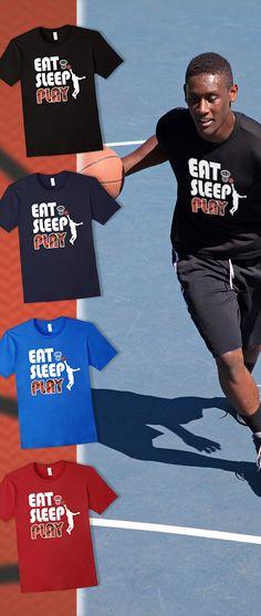 Eat Sleep Play Basketball Funny Basketball T Shirt