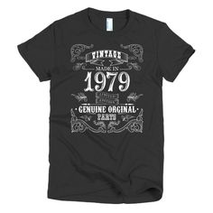 Made in 1979 Aged to perfection Short sleeve women's t-shirt