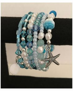 Bracelet Fil, Wire Wrapped Bracelet, Bracelet Crafts, Bracelet Making, Jewelry Making, Memory Wire Jewelry, Memory Wire Bracelets, Handmade Bracelets, Handmade Jewelry