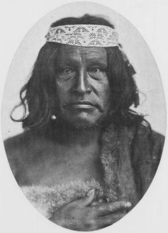 Häuptling der Araukaner, Patagonien, 1865, Benito Panunzi