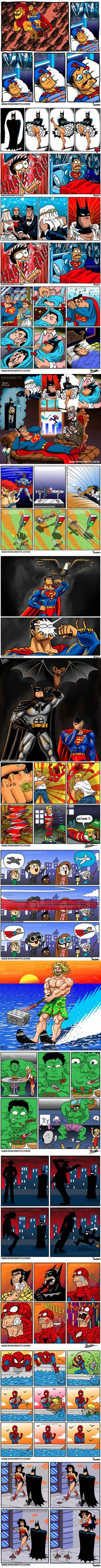 The Funniest Superhero Comics Collection (Part 2) asi estoy yo, como la amazona que lucha x la justicia y la verdad... no x lo mamá dolores, sino por las mugres cucarachas!!!
