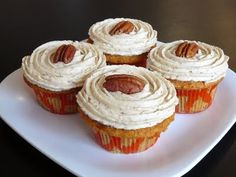 Baked Perfection: Brown Butter Pumpkin Cupcakes with Maple Pecan Frosting