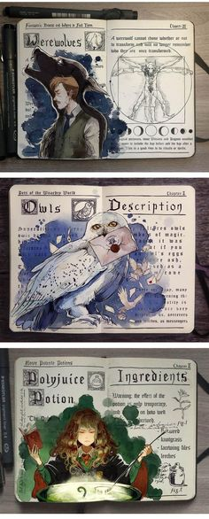Harry Potter by Picolo-kun #journal #sketch #moleskine