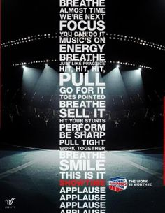 cheer(: the truest thing ever. So all y'all who say cheer isn't a sport. we perform as athletes. just like you. because we are.