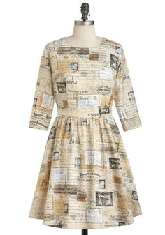 How Do You Adieu? #partydress from #ModCloth is pretty close to the newsprint dress I've always wanted