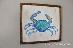 """By the seashore...""""Mr. Crab"""" susieharrisblog.com $55.00"""