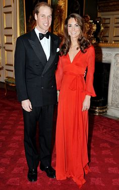 ,kate dressed in red gown