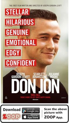 ZOOP Augments Movie 'DON JON (2013)' #Movie #Poster #MoviePoster #Augmented Reality #AR #QR #Scan #DONJON #HOLLYWOOD #ZOOP