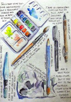 BB-Aquarelle: Tester son materiel avec Liz Steel / Material testing with Liz Steel Voyage Sketchbook, Sketchbook Cover, Travel Sketchbook, Arte Sketchbook, Watercolor Kit, Watercolor Sketchbook, Sketchbook Inspiration, Sketchbook Ideas, Urban Sketching