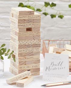 Ginger Ray Build A Memory Building Blocks Guest Book Beautiful Botanics : Target On Your Wedding Day, Fall Wedding, Rustic Wedding, Dream Wedding, Wedding Ideas, Diy Wedding Games, Wedding Ceremony, Perfect Wedding, Handmade Wedding