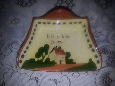 Vintage Torquay motto ware butter dish (chip) mottoware  | eBay