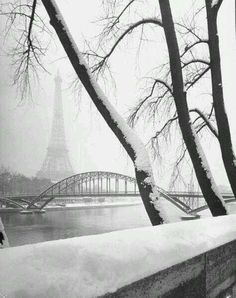 Winter in Paris, 1948. By Dmitri Kessel @historyepics