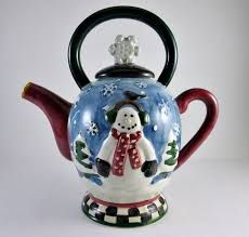 Image result for christmas teapots