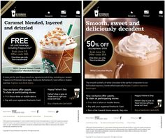 Pinned June 13th: Pay with store card for a free tall frappuccino, 50% off espresso at Starbucks coupon via The Coupons App