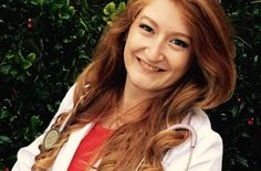 """Jackie is the Redhead of the Week! She graduated as a Dr. of Chiropractic in mid-April. A number of her pediatric patients call her """"The Ariel doctor"""" and because of this, others refer children and patients to her. Jackie loves her red hair, which reflects her individual personality, and makes her instantly memorable to everyone she meets."""