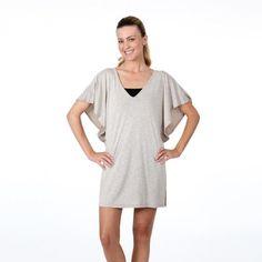 026c582dbb Dotti Swimwear Cover Up Flutter Tunic First Resort Mini Dress. Tan first  resort mini dress