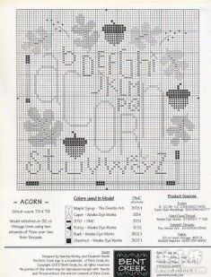 Free Bent Creek Cross Stitch | Bent Creek - acorn sampler 2 of 2