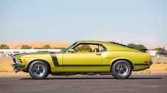1970 Ford Mustang Boss 302 Fastback - 2 Ford Mustang Boss, Ford Mustang Fastback, Mustang Cobra, Ford Mustangs, Shelby Gt500, Classic Mustang, Ford Classic Cars, Green Mustang, Mercury Cars