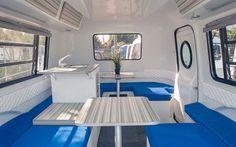 Solar-powered retro-modern Happier Camper HC1 features a LEGO-like interior.