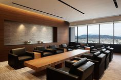 Nikken Space Design Metting Room, Conference Room Design, Office Entrance, Salon Interior Design, Reception Rooms, Modern House Design, Office Interiors, Office Decor, Exhibitions
