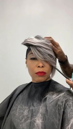 Short Sassy Hair, Short Hair Cuts, Natural Hair Updo, Natural Hair Styles, Biotin Shampoo, Multicolored Hair, Corte Y Color, Hair Game, Hairstyles With Bangs