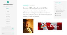 LiveWorkPlay Co-Leader Keenan Wellar Canada 150 Profile in The Philanthropist   LiveWorkPlay Canada 150, Profile, User Profile