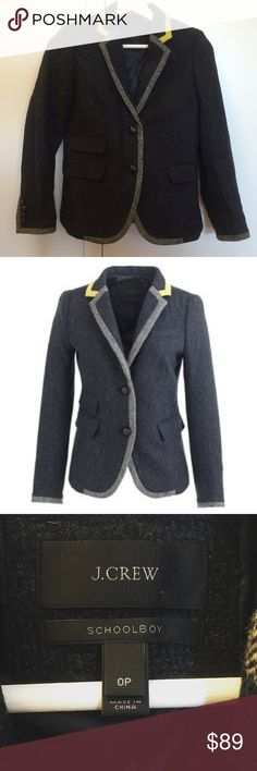 J.Crew Schoolboy Tipper Blazer Herringbone Worn once! Beautiful detailing. Smoke free pet free home. Immaculate condition. J. Crew Jackets & Coats Blazers