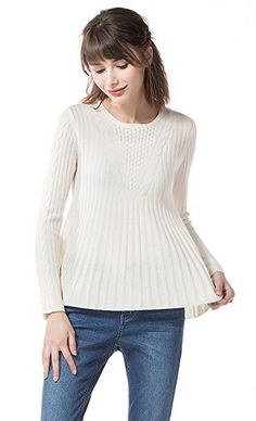 Knitbest Women's Crew Neck Long Sleeve Cable Knitted Sweater Pullover  80%Lambswool 20%Nylon  Machine Wash - Cold (30° Max)  Model's profile:178cm/5'10'', 119lbs, Bust:82cm, Waist:61cm, Hip:88cm