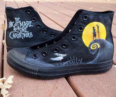 Custom peint Nightmare Before Christmas par LindseyRosesDesign