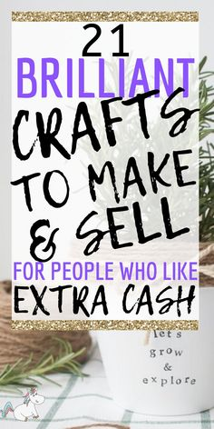 21 Unique and Easy Crafts to make and sell for Extra Cash (Updated for Looking to make more money from homw ith your crafts? Then look no further than these fantasic crafts ideas you can make and sell either at your local crafts fair or online! Diy Gifts To Sell, Easy Crafts To Sell, Money Making Crafts, Fun Crafts, Diy Projects That Sell Well, Selling Handmade Items, Selling Crafts, Local Craft Fairs, Easy Sewing Projects