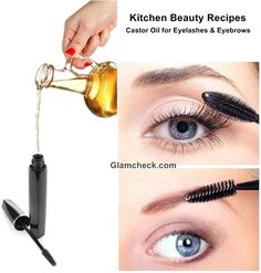 Kitchen Beauty Recipes Castor Oil for Eyelashes and Eyebrows