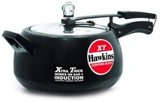 Hawkins Contura Black XT Pressure Cooker, Ideal for cooking for: Persons Base flat diameter: 150 mm Base thickness: mm Carton dimensions (WxDxH): 419 x 253 x 177 mm Product weight in carton: kg The In Prestige Pressure Cooker, Gas Stove, Kitchenware, How To Remove, Kitchen Products, Stoves, Cool Stuff, 5 Years, Dishes