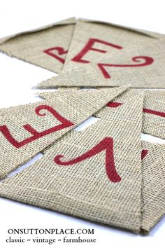 how to make a reversible burlap banner no sewing, diy home crafts, Just flip it over and you are ready for Christmas