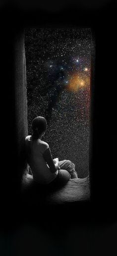 Wishing and hoping black and white sky night outdoors stars imagine color gaze Photocollage, Art Graphique, Stars And Moon, Stargazing, Belle Photo, Night Skies, Sky Night, Good Night, The Dreamers