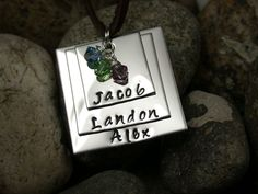 Hand Stamped Name Necklace from Black River Beads for $15.00 – $30.00