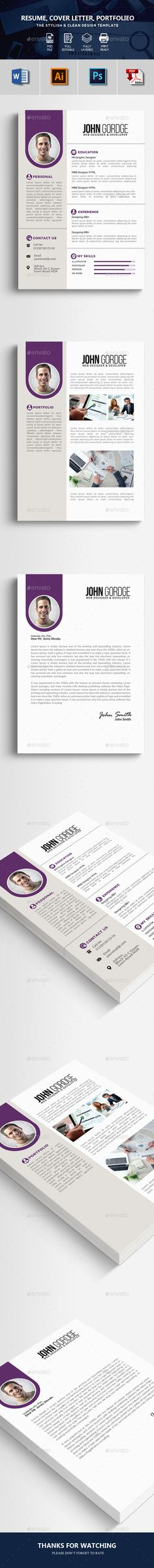 Word Resume CV Template 3014 best Resume