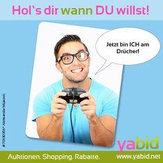 Schnapp dir die #Deals, wann DU es willst! Mit #Yabid besitzt Du die Kontrolle! Hol's dir wann DU willst! www.yabid.net