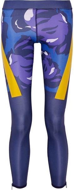 Adidas by Stella McCartney Run Techfit Printed Climalite Stretch Leggings Adidas by Stella Mccartney