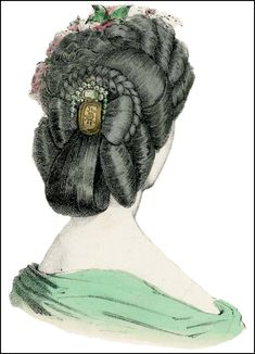 A Fashionable Coiffure: Rolls, Plaits, and other Popular Hairstyles of 1863 | Author Mimi Matthews