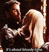 Hook and Emma - wrong move captain, don't fall in love with Emma, you will die and you're too awesome to die!!!