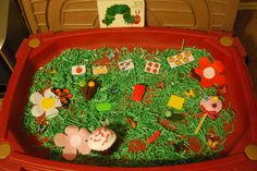 The Very Hungry Caterpillar Sensory Table