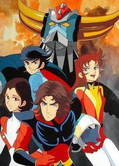 Grendizer - Getter Robo G - Great Mazinger Kessen! Old Anime, Anime Manga, Gundam, Koji Kabuto, Ulysse 31, Japanese Robot, Japanese Superheroes, Arte Robot, Winter Soldier Bucky