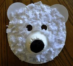 Have a roarin' good time with Playful Polar Bear Masks, made from materials you probably already have on hand!