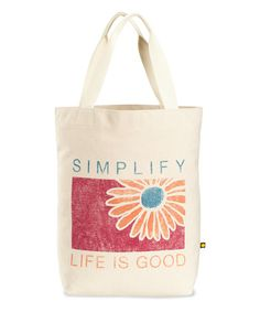 Loving this 'Simplify' Daisy Tote on #zulily! #zulilyfinds