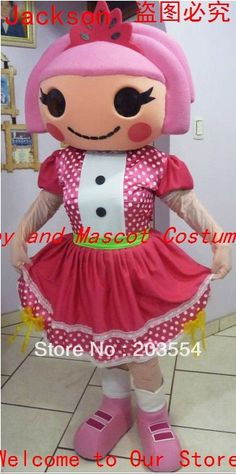Lalaloopsy Jewels Sparkles Mascot Costume Costumes for Chrismas Halloween Party Costume SALE Was:$300.00 Now: $270.00 #completelycosplay #a66marketing