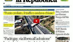 Rassegna stampa umbra  del 10 marzo 2017 da Umbriajournal tv crolla un ponte sulla A14