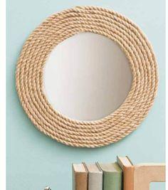 Jute Rope Mirror at Joann.com