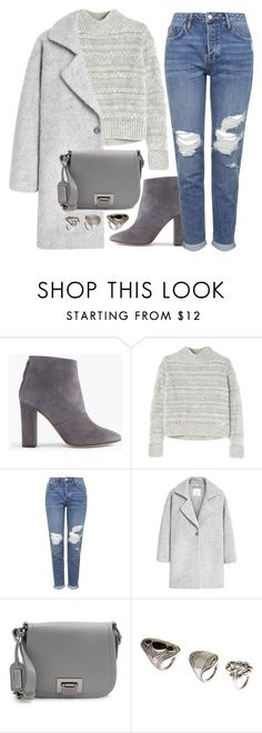 """""""What I'd Wear"""" by monmondefou ❤ liked on Polyvore featuring J.Crew, Rebecca Taylor, Topshop, MANGO, Badgley Mischka, H&M and gray"""