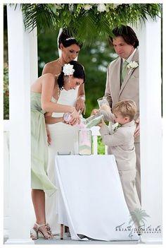 sand ceremony for blending families